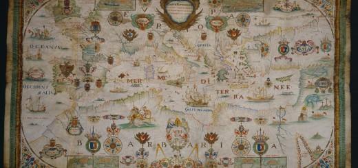 Carte particulière de la mer Méditerranée par F. Ollive, 1662 - BnF